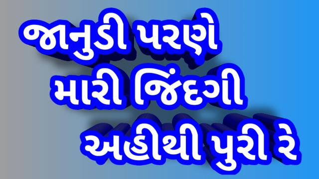 Lyrics For Janudi Parne Mari Jindgi Ahithi Puri Re New Gujarati Song Vikram Sodha