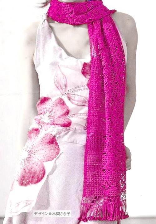 Crochet Lacy Scarf Wraps - Filet Spider Crochet Stitch