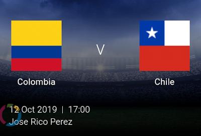 LIVE MATCH: Colombia Vs Chile Fifa Internationals 12/10/2019