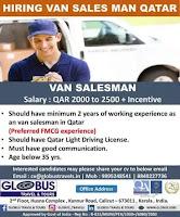 Hiring Van Sales Man Qatar