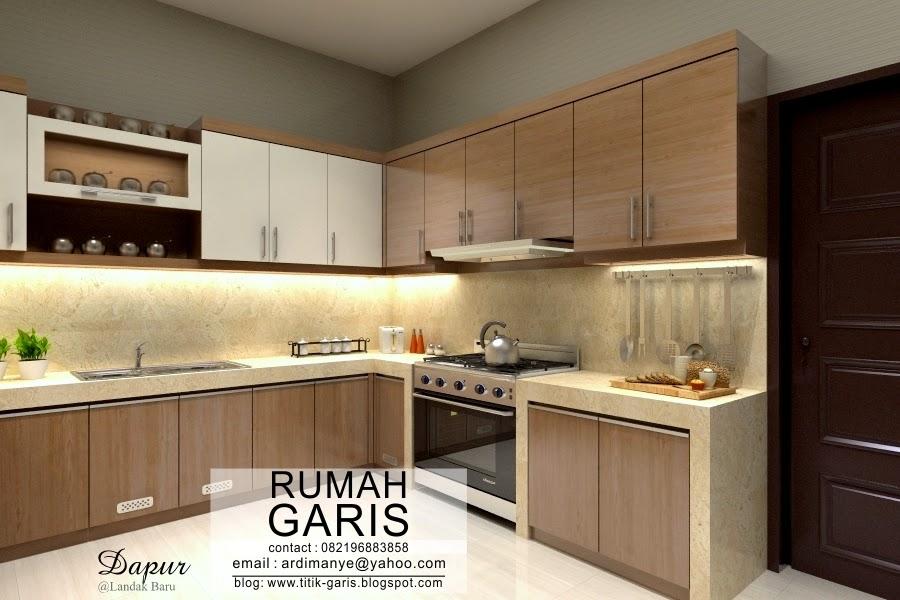 Desain kitchen set makassar rumah garis for Biaya kitchen set per meter