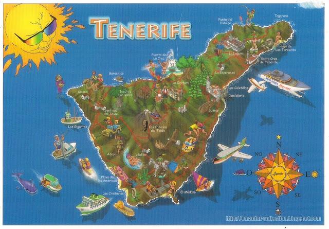 Mapcard Santa Cruz de Tenerife, Spain