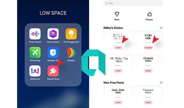 Cara Ganti Font OPPO A1K, A3S Simpel Tanpa Aplikasi