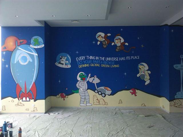 Contoh Lukisan Dinding Paud