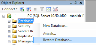 Backup and restore sql server database example