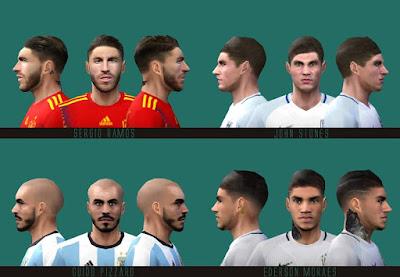 PES 6 Facepack World Cup 2018 by Dewatupai