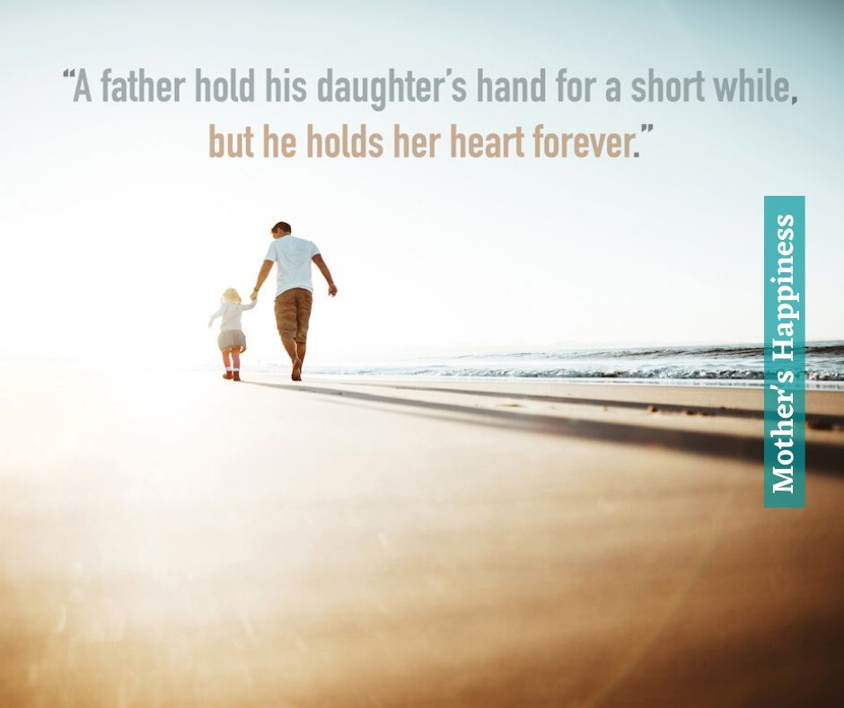 Cute Daughter and Father Quote Image
