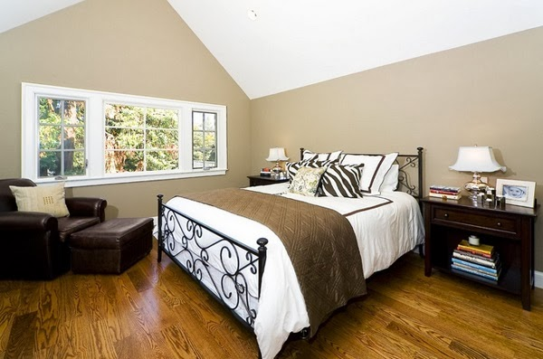 sloped ceiling bedroom ideas - decorating and design ideas