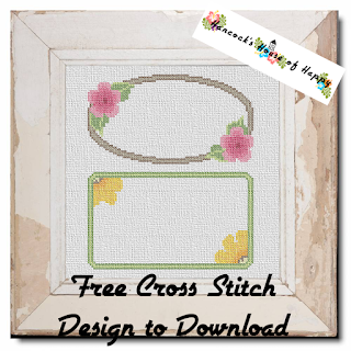 two cute floral cross stitch frames