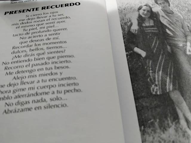 libro poesía amor  recuerdo ojos rozar abrazar