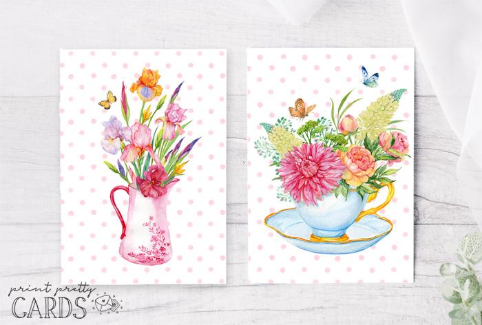 Floral Card Printables