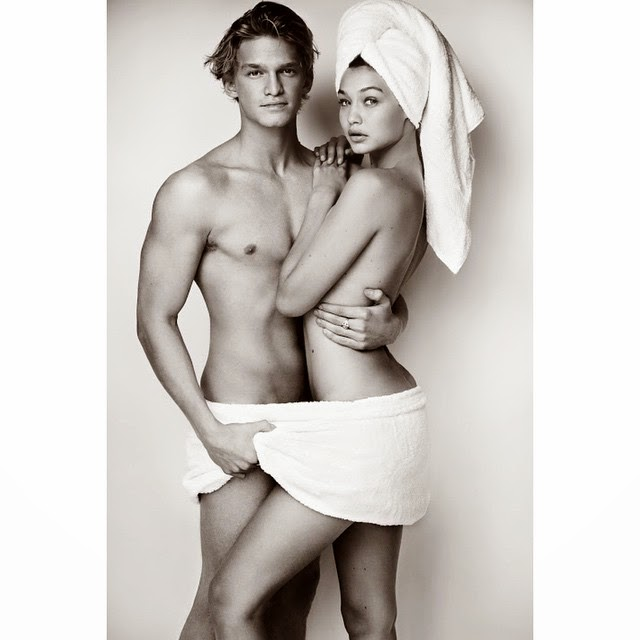 Gigi Hadid and Cody Simpson strip down for Mario Testino's 'Towel Series'