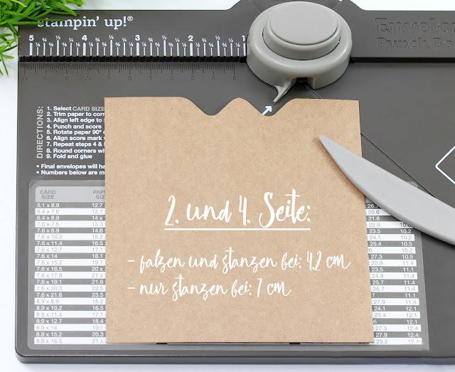 Verpackung mit Envelope Punch Board