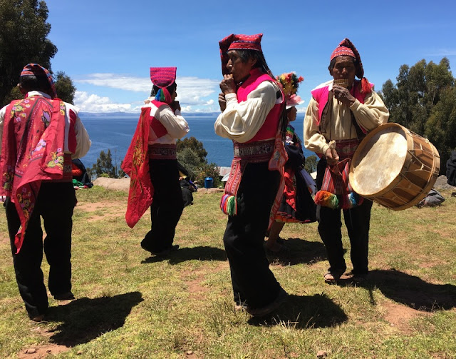 music and dancing on Taquile Island, Peru