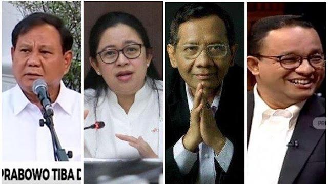 Prabowo dan Puan Maharani hingga Mahfud MD dan Anies Baswedan Diprediksi Maju Pilpres 2024