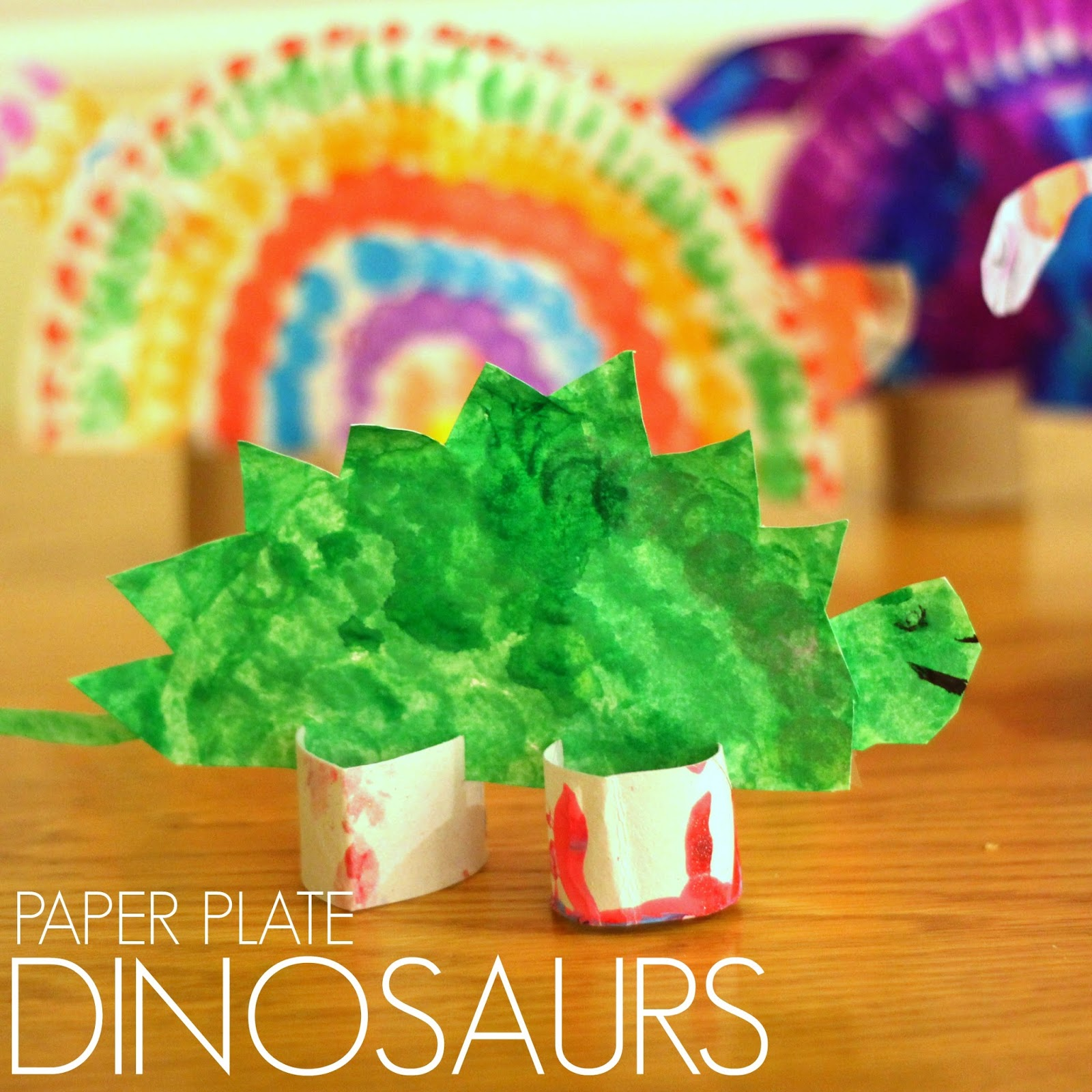These colorful paper plate dinosaurs are a perfect addition to DINOSAUR WEEK. This week we featured Goldilocks and the Three Dinosaurs by Mo Willems and we ...  sc 1 st  Toddler Approved! & Toddler Approved!: Colorful Paper Plate Dinosaurs for Kids