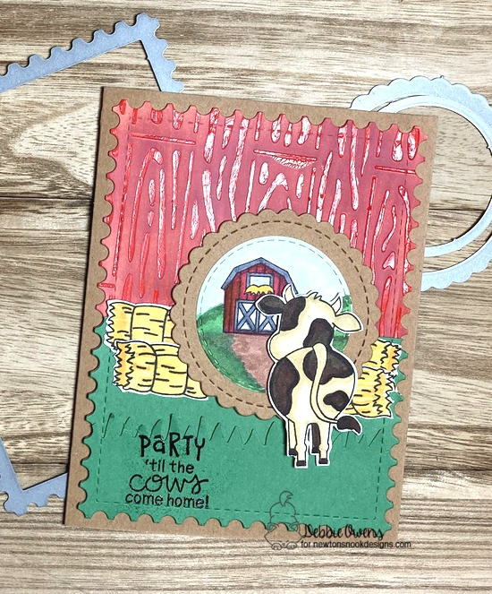 Party 'til the cows come home by Debbie features Moo, Hardwood, Framework, Land Borders, and Circle Frames by Newton's Nook Designs; #newtonsnook