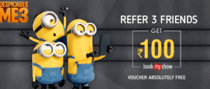 Crownit app - Get Rs.100 Bookmyshow Voucher on Referring 2 friends