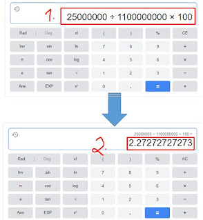 contoh cara menghitung persen di kalkulator