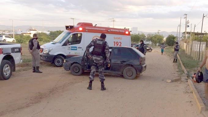 Acidente automobilístico é registrado na tarde da ultima quinta 25/02, no Bairro dos Estados em Patos
