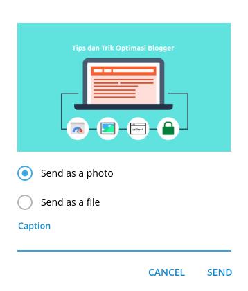 Kompres gambar dengan Telegram