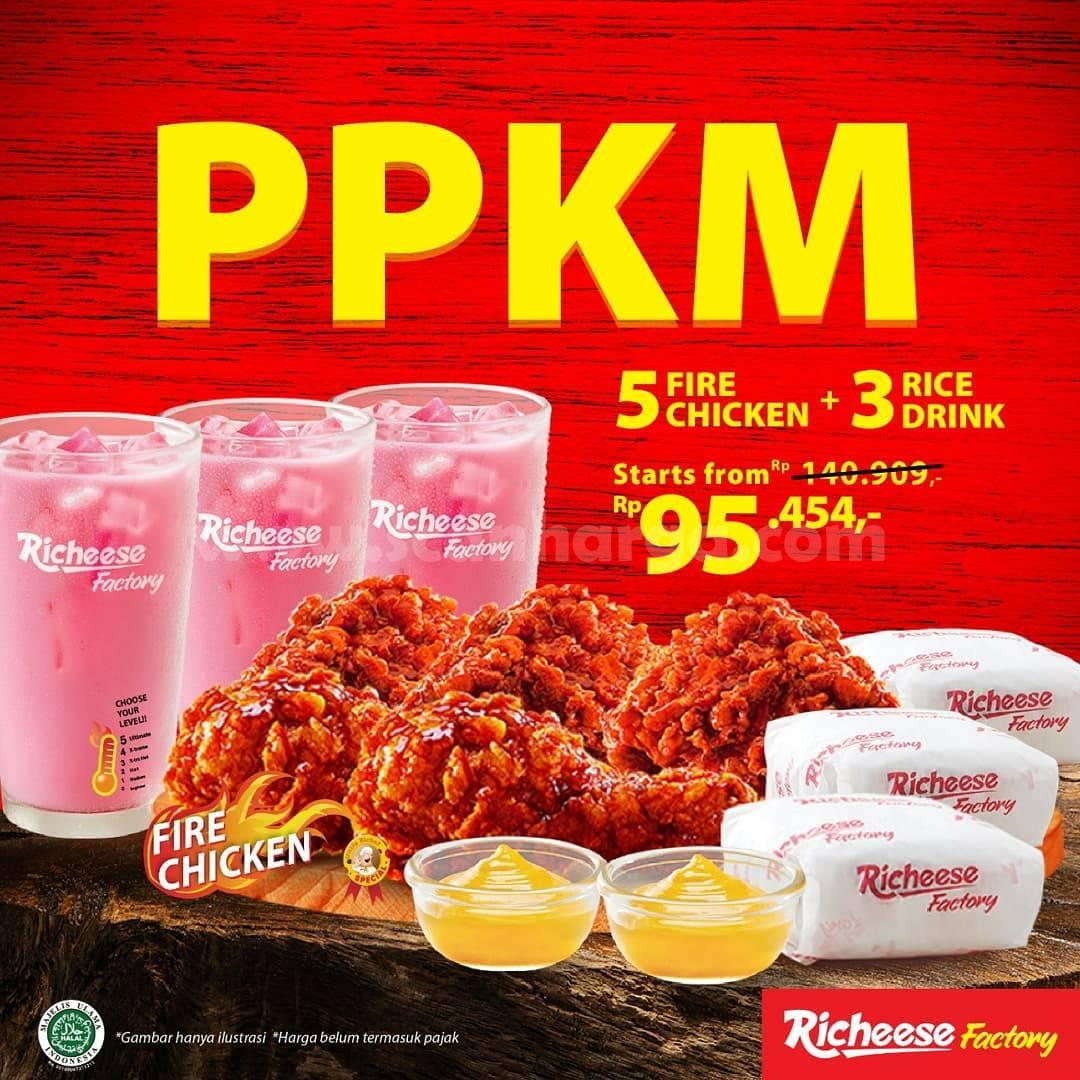 Promo RICHEESE FACTORY PPKM mulai dari Rp. 95.454 Aja