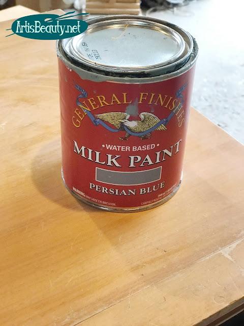 General finishes milk paint persian blue dresser makeover diy