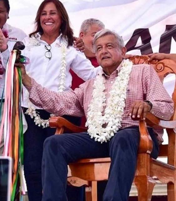 Presidente eco-comunista mexicano quis bastão de mando indigenista