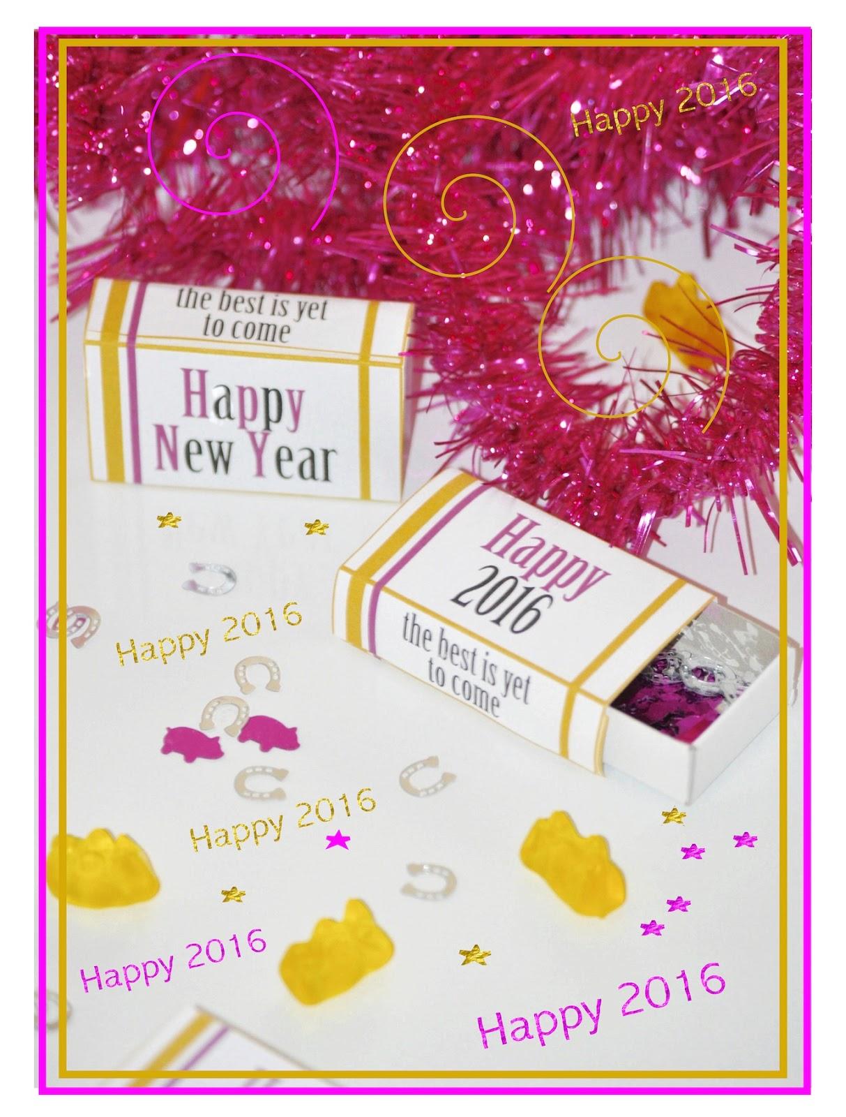 Free Printable New Year S Matchbox Wraps