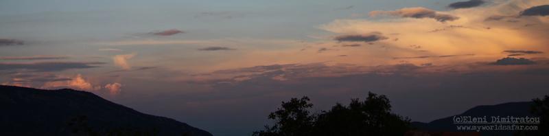 Ηλιοβασίλεμα πάνω από το Στενό του Πόρου, Κεφαλονιά