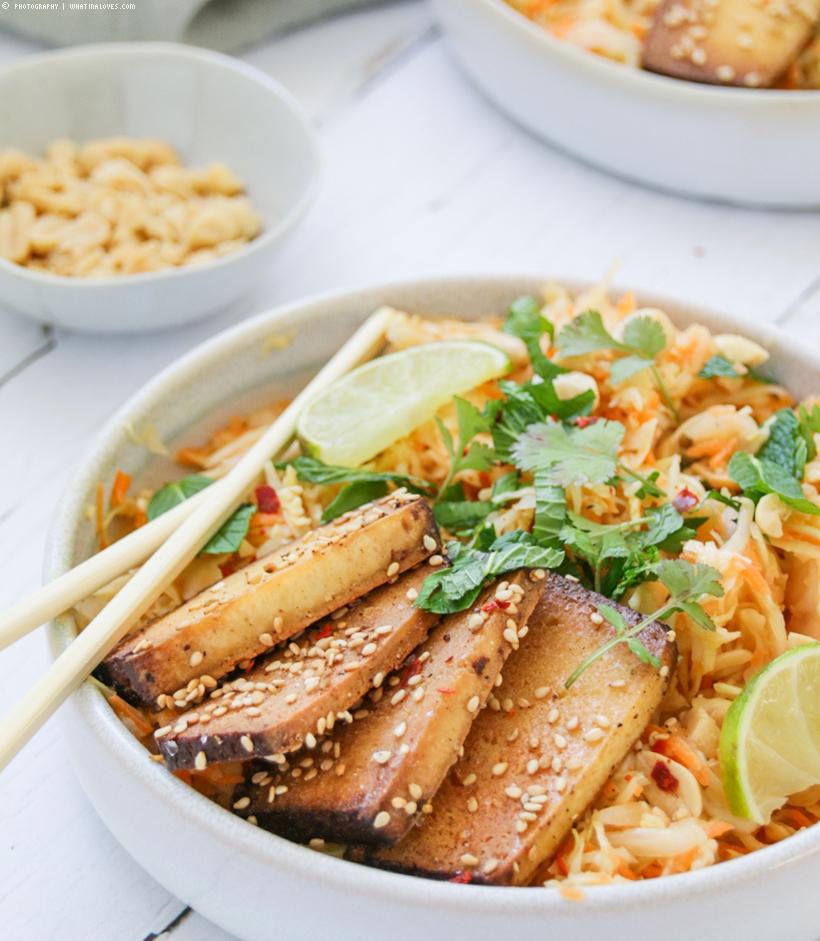 Asiatischer Karotten-Krautsalat mit Tofu