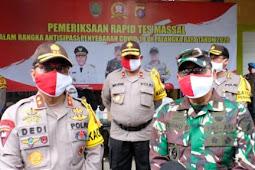 Danang Pamudji Pimpin Gelar Rapid Test Massal di Pasar Kahayan Palangka Raya