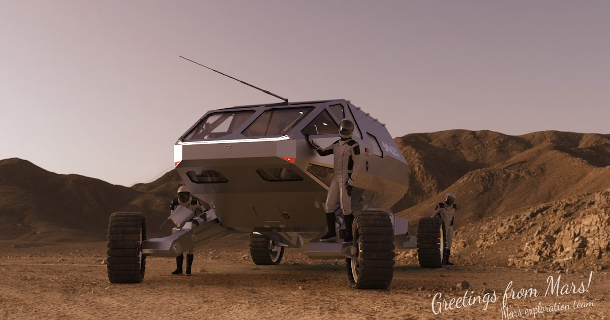 SpaceX Mars exploration rover concept by Alexander Svanidze
