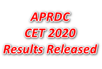 APRDC CET 2020 Results Released