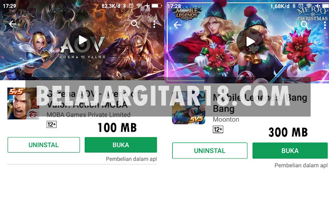 Perbandingan Mobile Legends vs Arena Of Valor