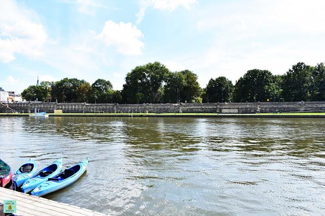Kayak por el río Vístula, Cracovia