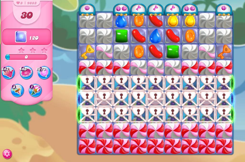 Candy Crush Saga level 9883