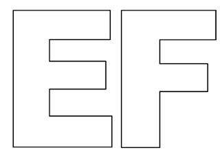 Moldes de letras E e F