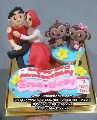 Cupcake Couple Monyet Untuk Anniversary