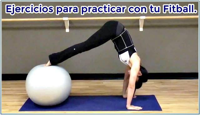 Ejercicios con fitball para el trabajo de la zona core abdominal y lumbar