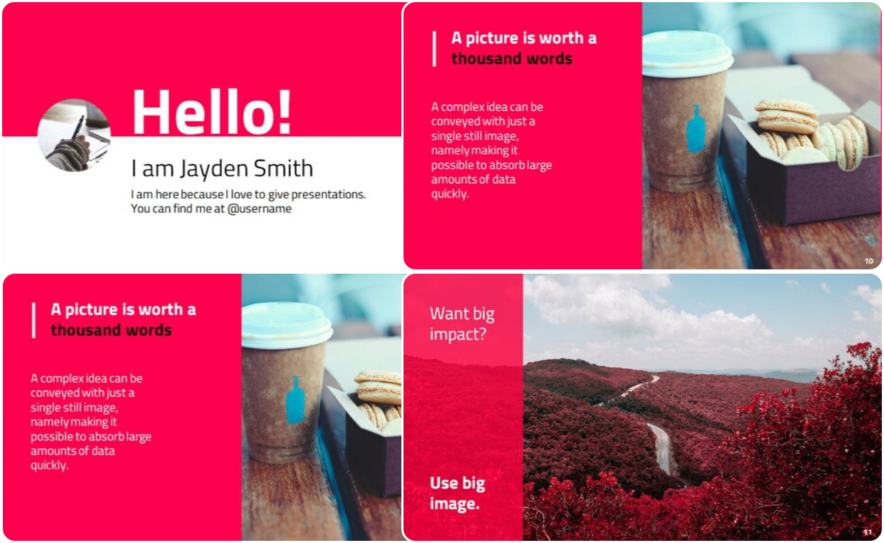 Simple flower theme presentation template for both PowerPoint and google slide