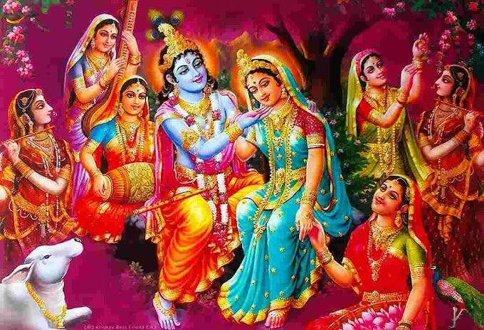Achyutam Keshavam Krishna Damodaram Lyrics Hindi
