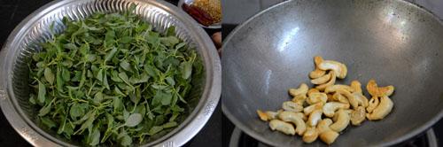 preparations for keerai rice