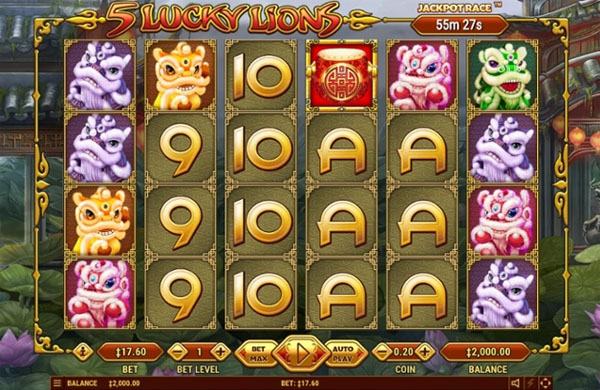 Main Gratis Slot Indonesia - 5 Lucky Lions Habanero
