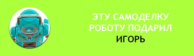 Подарочная плашка  Игорь Подарок для Робота Роботу подарили