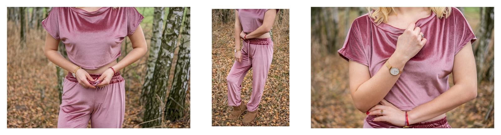6 stylowy welurowy dres gdzie kupić cena jakość modne spodnie dresowe emu ciepłe buty i stylizacje na jesień i zmę femme luxe jakość opinia cena recenzje