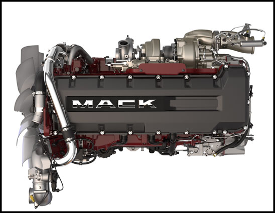 Mack MP8HE Engine