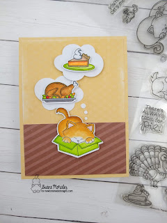 Holiday mix up card by Diane Morales | Newton's Thanksgiving Stamp Set by Newton's Nook Designs