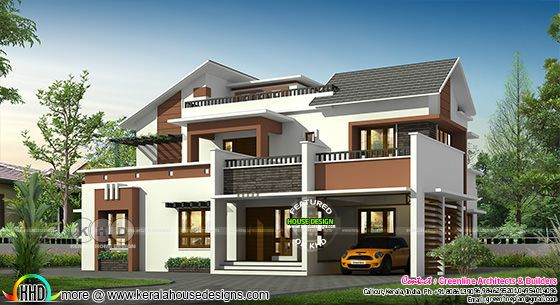 2794 sq-ft 4 bedroom modern contemporary house plan