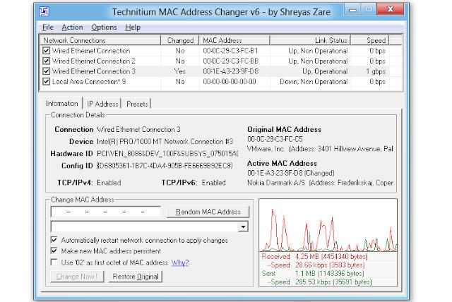 Technitium MAC Address Changer